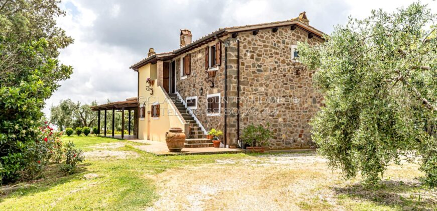 Splendid Farmhouse in Tuscany immersed in Nature with a Wonderful Rustic-Style House