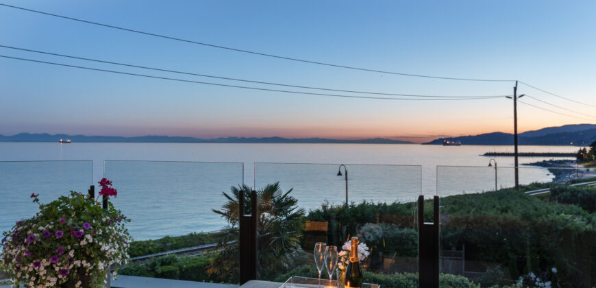 A SENSATIONAL SEA SIDE MODERN VILLA SITUATED JUST STEPS TO THE SEA WALL IN WEST VANCOUVER ..